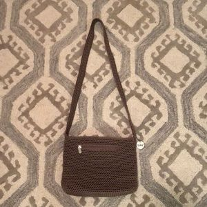 The Sak Crocheted Taupe Handbag